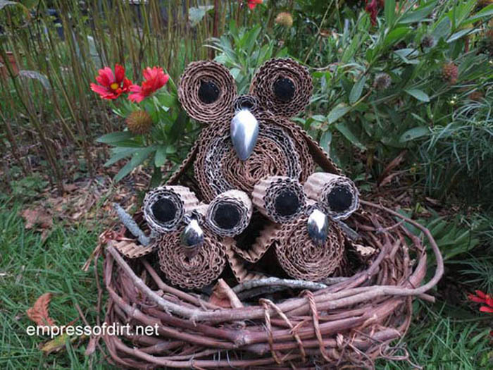 Cardboard Owls DIY Ideas Wastehuntercom