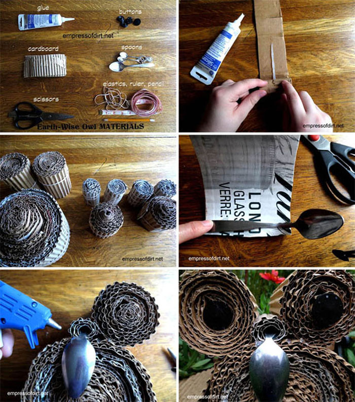 DIY Cardboard Owl Tutorial