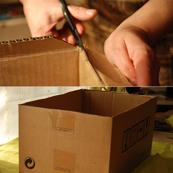 DIY Cardboard Storage Box 1