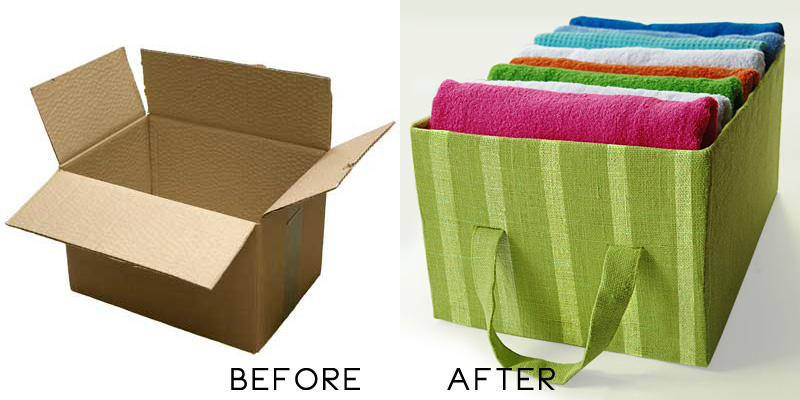 DIY Idea Cardboard Storage Box