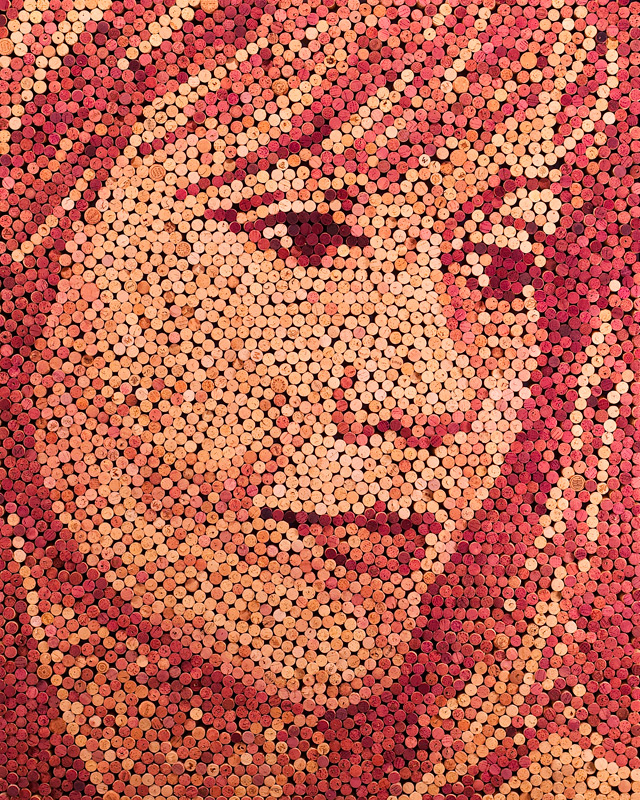 Scott Gundersen wine cork portraits 1