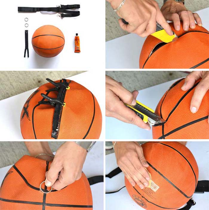 DIY Basketball Bag | wastehunter.com