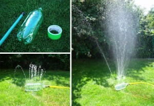 diy homemade soda bottle sprinkler