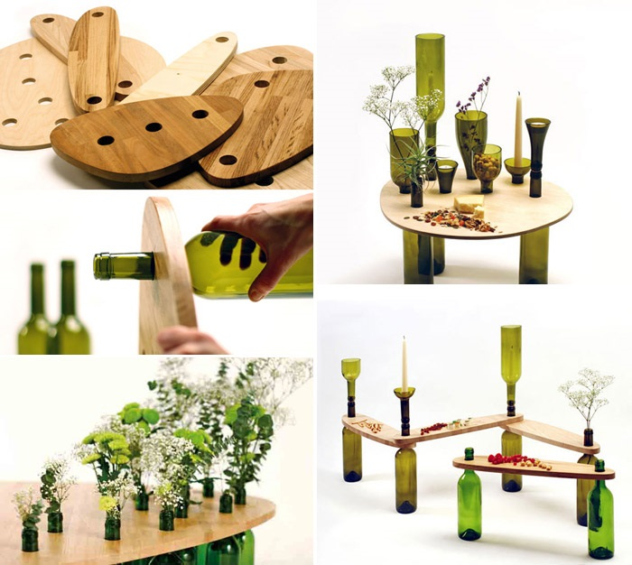 Reusing Wine Bottles Into Coffee Table Dvinus Wastehuntercom