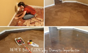 DIY Paper Bag Floors