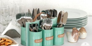 How To Make Cutlery Holder Made Of Tin Cans