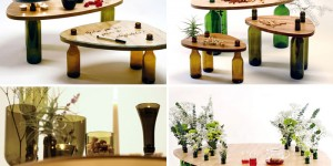 Reusing Wine Bottles Into Coffee Table